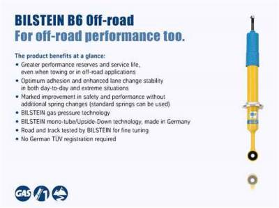 Bilstein Shocks - 4600 Bilstein Series - Stock Height Front Shock Absorber | 14-20 RAM 3500