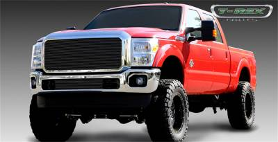 T-Rex Grilles - 11-16 FORD F250/F350  Super Duty  T-Rex Black Billet Series Grille, 1 Pc, Insert