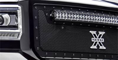T-Rex Grilles - 2011-2016 Ford F250/F350/F450/F550 Super Duty T-Rex Balck Stealth X-Metal Grille , 1 Pc, Insert, Black Studs