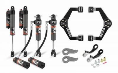 Cognito Motorsports - Cognito 3-Inch Elite Leveling Kit with Fox Elite 2.5 Reservoir Shocks for 11-19 Silverado/Sierra 2500/3500