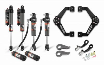 Cognito Motorsports - Cognito 3-Inch Elite Leveling Kit with Fox Elite 2.5 Reservoir shocks for 2020 Silverado/Sierra 2500/3500