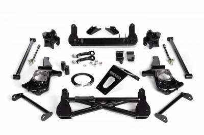 Cognito Motorsports - Cognito 7-9 Inch Non-Torsion Bar Drop Front Suspension Lift Kit For 11-12 Silverado/Sierra 2500HD/3500HD 2WD Non-Stabilitrak