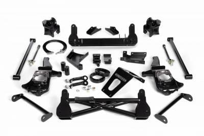 Cognito Motorsports - Cognito 7-9 Inch Non-Torsion Bar Drop Front Suspension Lift Kit For 11-19 Silverado/Sierra 2500HD/3500HD 4WD Non-Stabilitrak