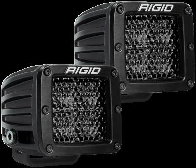 Rigid Industries - Spot Diffused Midnight Surface Mount Pair D-Series Pro RIGID Industries