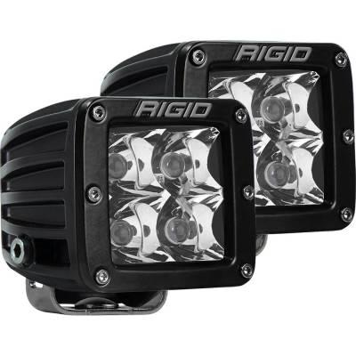 Rigid Industries - Spot Surface Mount Amber Pair D-Series Pro RIGID Industries
