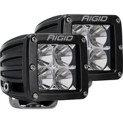 Rigid Industries - Flood Surface Mount Amber Pair D-Series Pro RIGID Industries