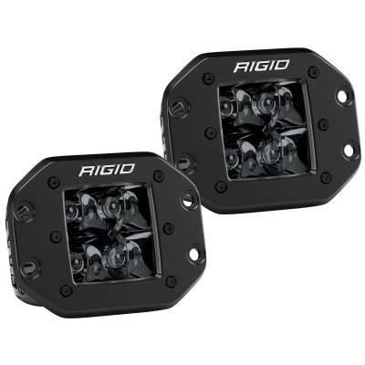 Rigid Industries - Spot Flush Mount Midnight Pair D-Series Pro RIGID Industries