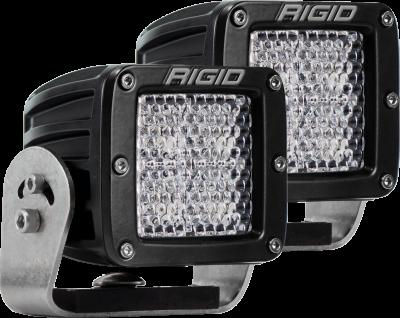 Rigid Industries - Heavy Duty Mount Diffused Pair D-Series Pro RIGID Industries