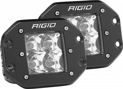 Rigid Industries - Spot Flush Mount Black Pair D-Series Pro RIGID Industries