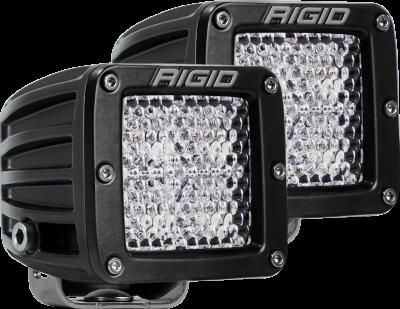 Rigid Industries - Diffused Surface Mount Black Pair D-Series Pro RIGID Industries