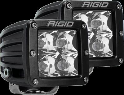 Rigid Industries - Spot Surface Mount Black Pair D-Series Pro RIGID Industries