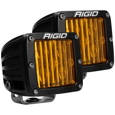 Rigid Industries - SAE J583 Compliant Selective Yellow Fog Light Pair D-Series Pro Street Legal Surface Mount Rigid Industries