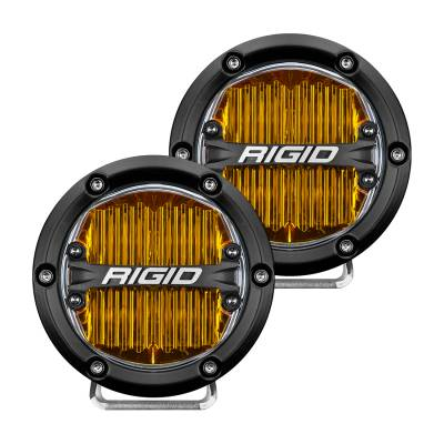 Rigid Industries - 360-Series 4 Inch Sae J583 Fog Light Selective Yellow Pair RIGID Industries