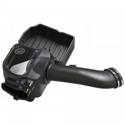 S&B Products - Cold Air Intake For 17-19 Ford F250 F350 V8-6.7L Powerstroke Dry Extendable White S&B