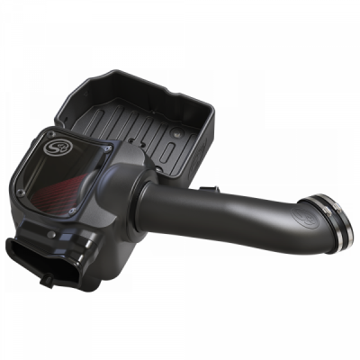 S&B Products - Cold Air Intake For 17-19 Ford F250 F350 V8-6.7L Powerstroke Cotton Cleanable Red S&B