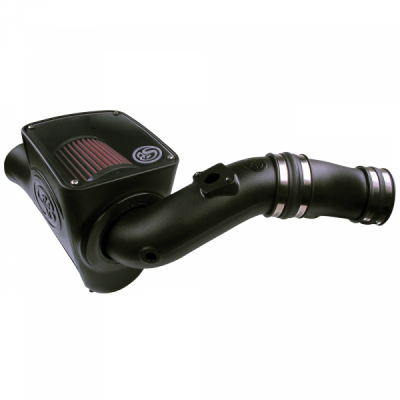 Cold Air Intake For 03-07 Ford F250 F350 F450 F550 V8-6.0L Powerstroke Cotton Cleanable Red S&B