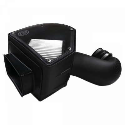 Cold Air Intake For 94-02 Dodge Ram 2500 3500 5.9L Cummins Dry Extendable White S&B - dieselpros.com