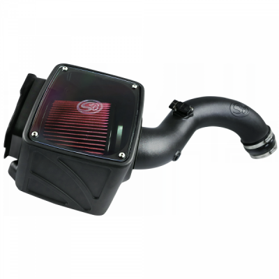 S&B Products - Cold Air Intake For 01-04 Chevrolet Silverado GMC Sierra V8-6.6L LB7 Duramax Cotton Cleanable Red S&B