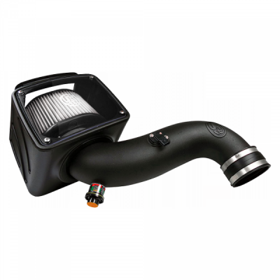 S&B Products - Cold Air Intake For 07-10 Chevrolet Silverado GMC Sierra V8-6.6L LMM Duramax Dry Extendable White S&B