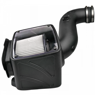 S&B Products - Cold Air Intake For 06-07 Chevrolet Silverado GMC Sierra V8-6.6L LLY-LBZ Duramax Dry Extendable White S&B