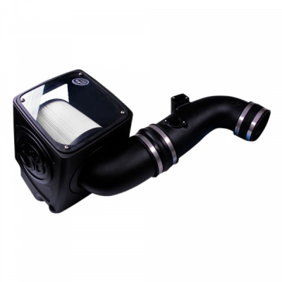 S&B Products - Cold Air Intake For 11-16 Chevrolet Silverado GMC Sierra V8-6.6L LML Duramax Dry Extendable White S&B