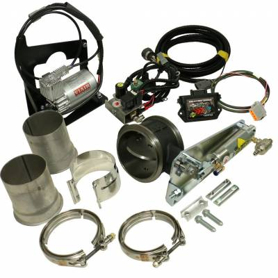 1027343 BD Diesel 13-17 Dodge 6.7L Cummins Exhaust Brake (Remote) w/ Non-VGT Turbo & 4 Inch Exhaust - Kit C/W Air Compressor