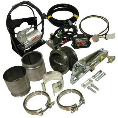 BD Diesel 1027345 2007.5-2017 Dodge 6.7L Cummins Exhaust Brake (Remote) w/ NON-VGT Turbo & 5 Inch Exhaust - Kit C/W Air Compressor