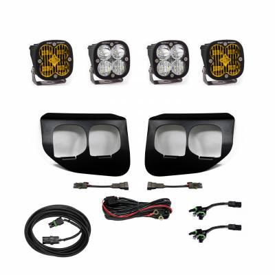 2020-2021 Ford Super Duty Baja Designs Dual Fog Pocket Kit - SAE Amber / Pro White - Plug N Play / Toggle Switch