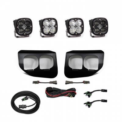 2020-2021 Ford Super Duty Baja Designs Dual Fog Pocket Kit - SAE White / Sport White - Plug N Play / Toggle Switch