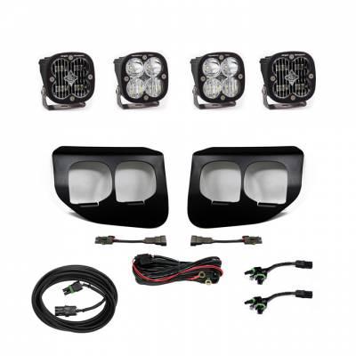 2020-2021 Ford Super Duty Baja Designs Dual Fog Pocket Kit - SAE White / Pro White - Plug N Play / Toggle Switch