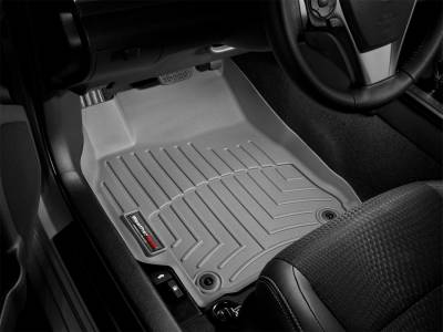 Interior Accessories - Floor Mats and Cargo Liners - WeatherTech - 14-15 Ford F250/F350/F450/F550 Super Crew - WeatherTech w/LHS Foot Rest w/Floor Shifter Front Floor Mat Grey