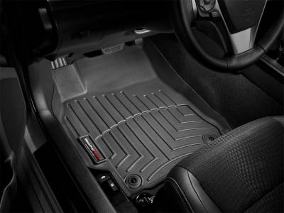 Interior Accessories - Floor Mats and Cargo Liners - WeatherTech - 11-16 Ford F250/F350 Super Duty Supercrew/SuperCab/Ext with Footrest DS Floor w/o Man Shifter - WeatherTech Black Front Floorliner