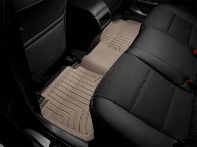 Interior Accessories - Floor Mats and Cargo Liners - WeatherTech - 17-21 Ford F250/F350 Super Duty Super Cab with Front Row Buckets - WeatherTech Rear Seat Floorliner Tan