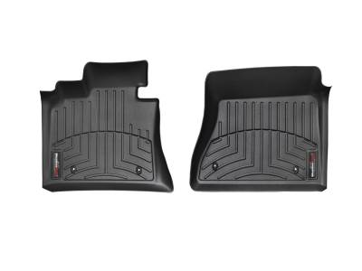 Interior Accessories - Floor Mats and Cargo Liners - WeatherTech - 12-16 Ford F250/F350 Super Duty Supercrew/SuperCab/Ext with Footrest Not 4x4 Shifter/Man/Console - WeatherTech Black Front Floorliner