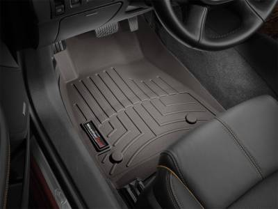 Interior Accessories - Floor Mats and Cargo Liners - WeatherTech - 14-20 Silverado & 15-19 Sierra 2500/3500 Double/Crew Cab w/ Mounted Shifter - WeatherTech Front Floorliner Cocoa
