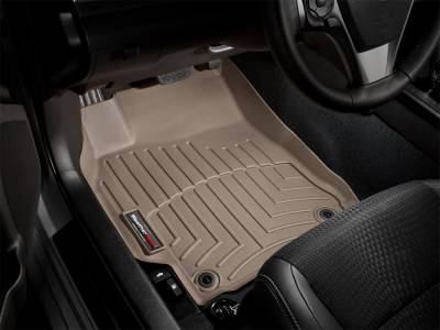 Interior Accessories - Floor Mats and Cargo Liners - WeatherTech - 12-16 Ford F250/F350/F450/F550 STD Cab - WeatherTech Over Hump  w/Raised Forward Left Corner Floor Mats Tan