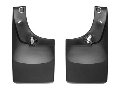 Exterior Accessories - Mud Flap - WeatherTech - 04-10 Ford F250/F350 Super Duty - WeaterTech No Drill Mud Flaps w/Flares Balck