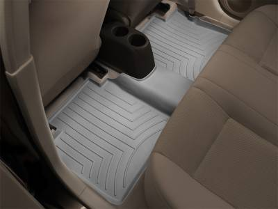 Interior Accessories - Floor Mats and Cargo Liners - WeatherTech - 14-20 Silverado 2500/3500HD & 15-19 Sierra 2500/3500HD Crew - WeaterTech Underseat Rear Floor Mats Grey