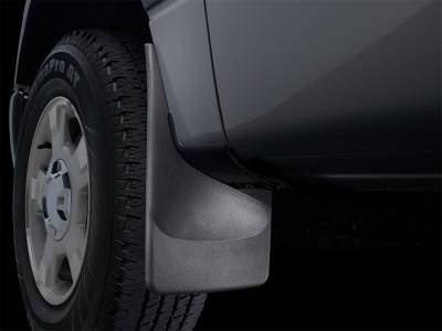Exterior Accessories - Mud Flap - WeatherTech - 11-16 Ford F/550 Dually Models w/o Flares/Lip Molding - WeatherTech No Drill Mud Flaps Black