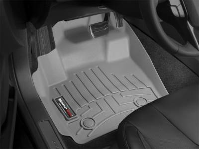 Interior Accessories - Floor Mats and Cargo Liners - WeatherTech - 15-19 Sierra & 15-20 Silverado 2500/3500 Double/Crew Cab - WeatherTech w/Floor Shift Front Floor Mats Grey