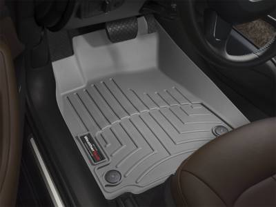 WeatherTech - 08-10 Ford F250/F350 SUPER DUTY HD 1 PIECE W/HUMP - WeatherTechFRONT GREY LINERS