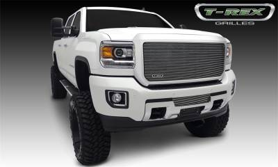 Exterior Accessories - Grille - T-Rex Grilles - 2015-2019 SIERRA 2500/3500 HD T-Rex Polished Billet Series Grille, 1 Pc, Insert