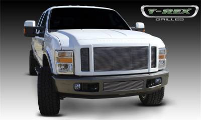 Exterior Accessories - Grille - T-Rex Grilles - 08-10 Ford F250/F350 Super Duty  T-Rex Polished Billet Series Grille, 3 Pc, Insert