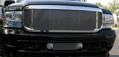 Exterior Accessories - Grille - T-Rex Grilles - 99-04 Ford F250/F350 Super Duty  T-Rex Polsihed Billet Series Grille, 3 Pc Look, Insert