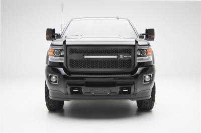 "Exterior Accessories - Grille - T-Rex Grilles - 15-19 SIERRA 2500/3500HD  T-Rex Black  ZROADZ Series LED Grill with (1) 20"" LED, 1 Pc, Insert"