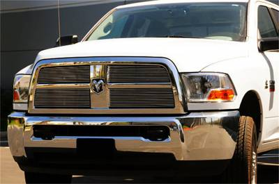 T-Rex Grilles - 10-12 RAM 2500/3500  T-Rex Polished Billet Series Grille, 4 Pc, Overlay