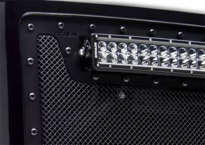 """T-Rex Grilles - 2011-2016 FORD F250/F350 Super Duty T-Rex Stealth Torch Bumper Grille, Black, 1 Pc, Bolt-On, Black Studs with (1) 20"""" LED - Image 2"""