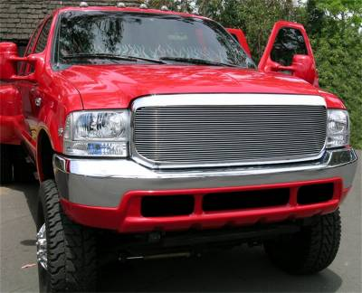 T-Rex Grilles - 99-04 Ford F250/F350 Super Duty  T-Rex Polsihed Billet Series Grille, 1 Pc, Insert