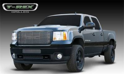 T-Rex Grilles - 11-14 SIERRA 2500/3500  HD T-Rex Polished Billet Series Grille, 1 Pc, Overlay/Insert