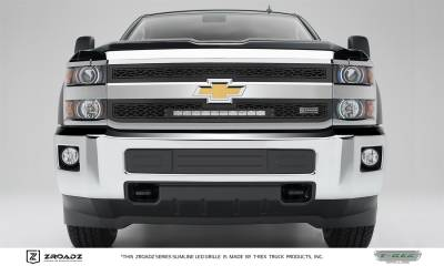 "Exterior Accessories - Grille - T-Rex Grilles - 15-19 SILVERADO 2500HD and 2015-2017 3500HD  T-Rex Black ZROADZ Grille 20"" LED, 2 Pc, Insert"